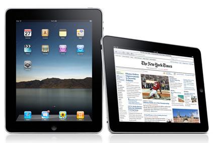 Apple iPad: with feet up technology