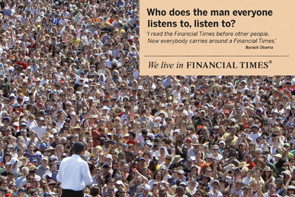 FT: unveils Obama-led outdoor campaign