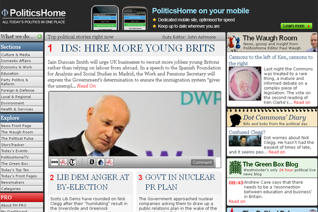 Ashcroft cashes in on PoliticsHome