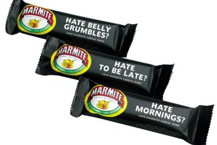 Marmite: markets cereal bars through Facebook