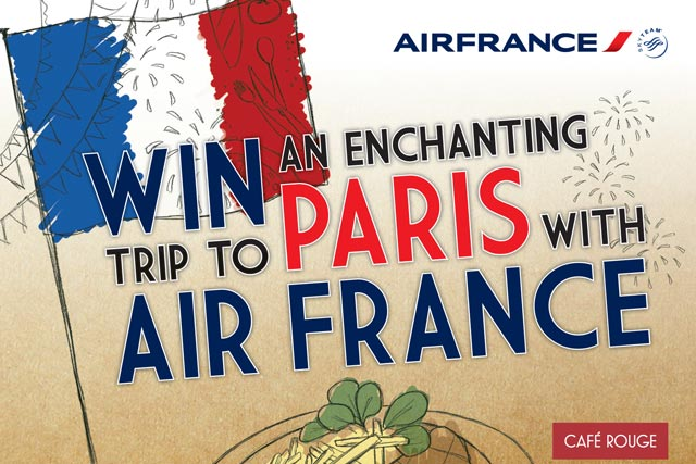 Air France: linking up with Café Rouge chain for Bastille Day promotion
