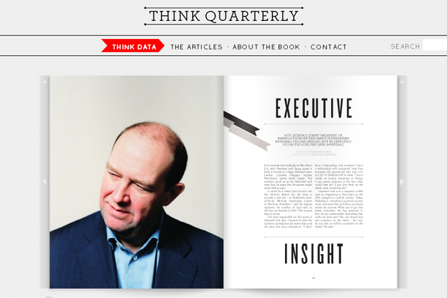 Think Quarterly: a spread from Google's new business magazine