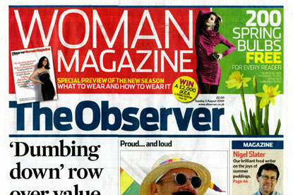 The Observer…dropping three monthly mags
