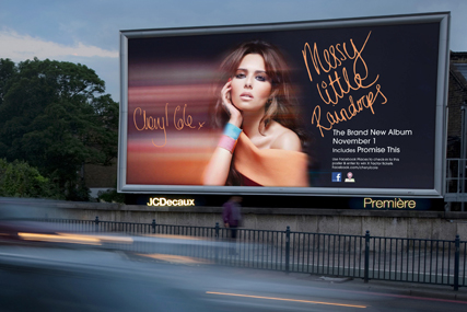 Cheryl Cole: Facebook poster campaign