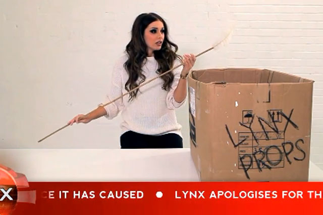 Lynx: Lucy Pinder apologises on YouTube