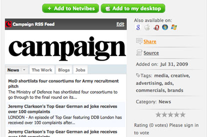 Campaign Widget...real-time news, work, blogs and jobs
