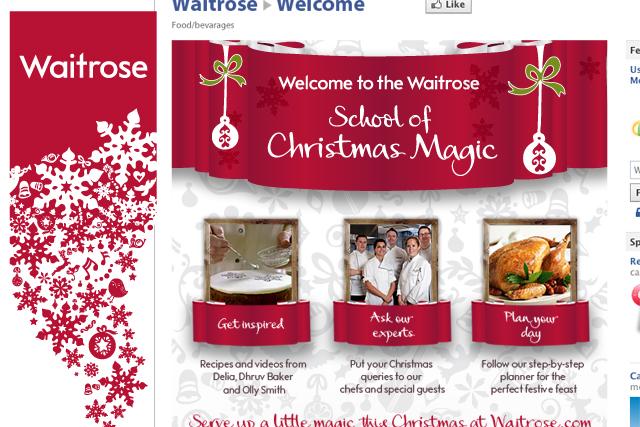 Waitrose: Facebook Christmas cooking content
