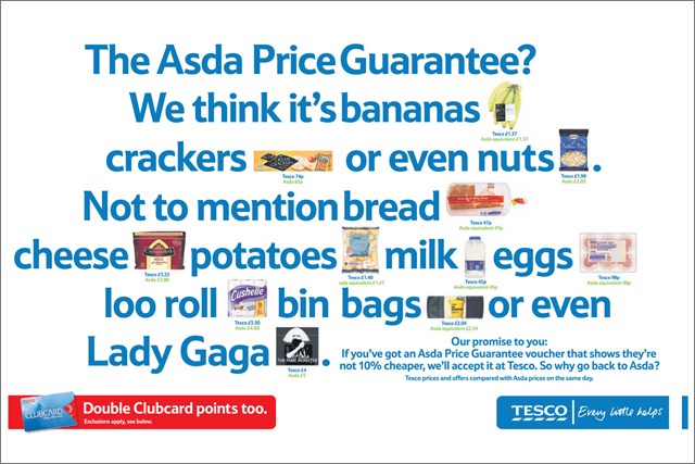 Tesco: changes terms and conditions of its price checker