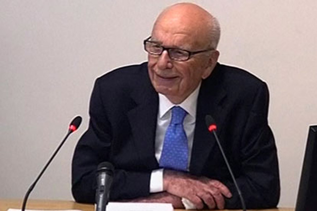 Rupert Murdoch at the Leveson inquiry, Wednesday