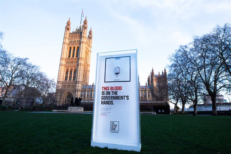 Unilad: campaign features blood that cannot be used to save lives due to government policy
