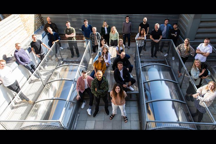 The Corner: agency gathered on office roof for re-indepdence day photoshoot