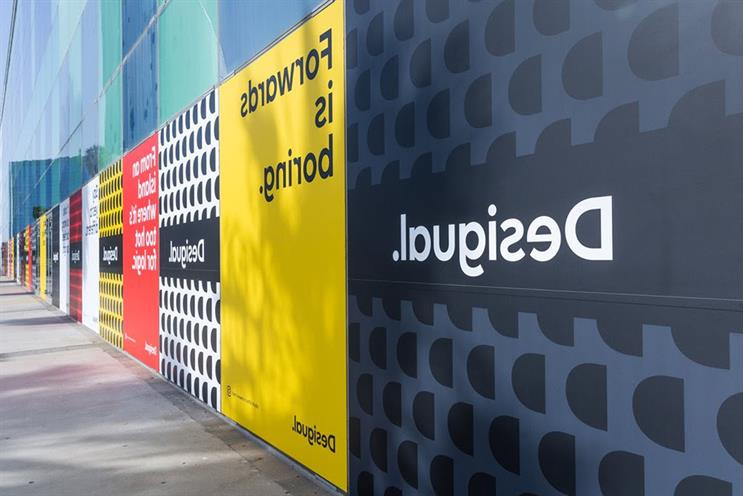 Desigual: posters can be deciphered via selfie mode on smartphone camera