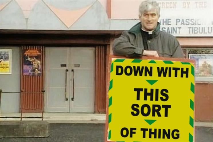 'Stay alert': Father Ted might have enjoyed the messaging