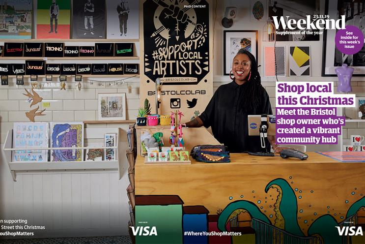 Guardian: coverwrap highlights role of local high street during Christmas