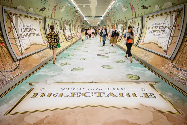 Hendrick's Gin creates scented tunnel wrap in King's Cross Station