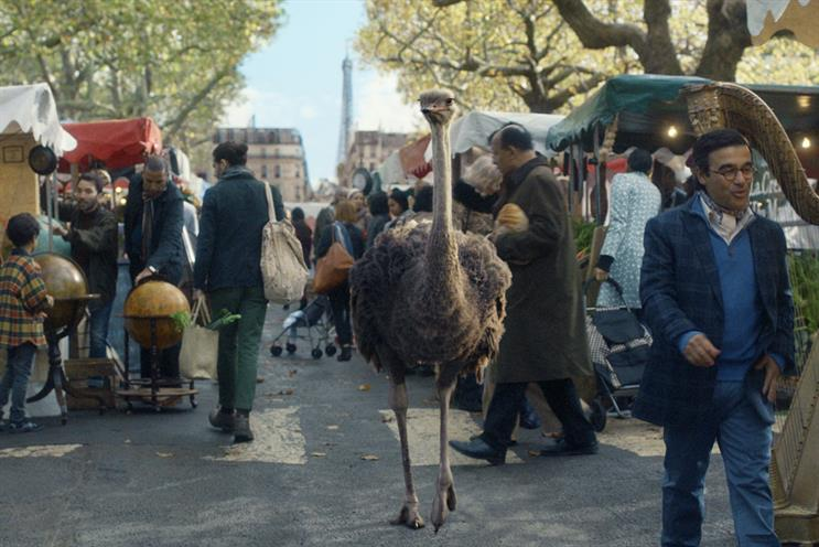 Eurostar: ads feature a travelling ostrich called Seymour