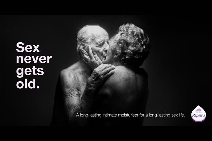 Replens MD: campaign depicted intimate moments between older people