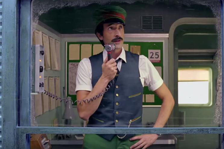 H&M: Brody starred in H&M festive ad