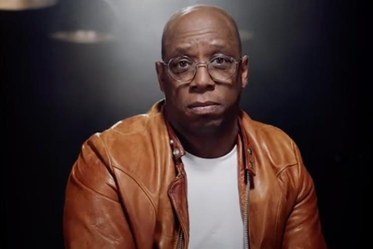 Ian Wright: footballer appears in work to promote ad competition