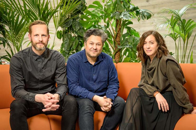 Yonder Media: (left to right) Ed Cox, Zaid Al-Zaidy, Louise Martell