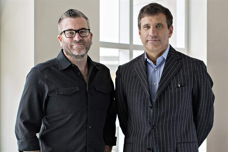JWT: Matt Eastwood, left, with the agency's global president Gustavo Martinez