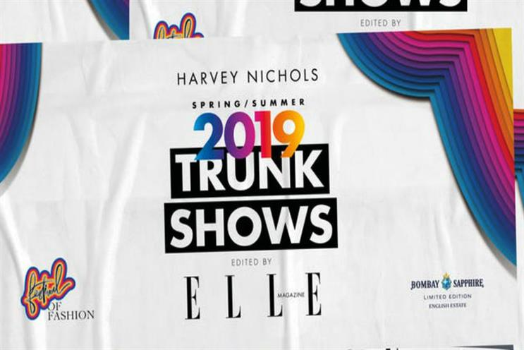 Harvey Nichols and Elle: similar events will run outside London