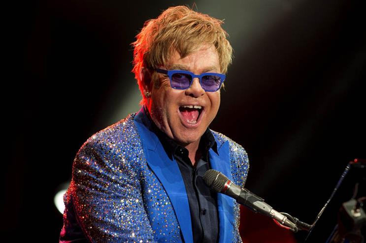 Elton John: featured in John Lewis's Christmas campaign