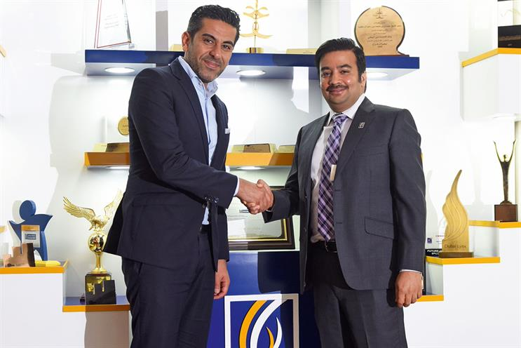 FP7 UAE Group's Sasan Saeidi and Emirates NBD's Vikram Krishna