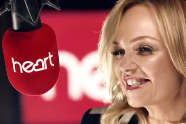 Heart: Breakfast host Emma Bunton