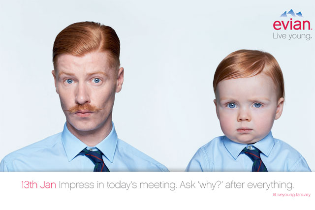 Evian: #liveyoungjanuary campaign launches on brand's Facebook and Twitter pages