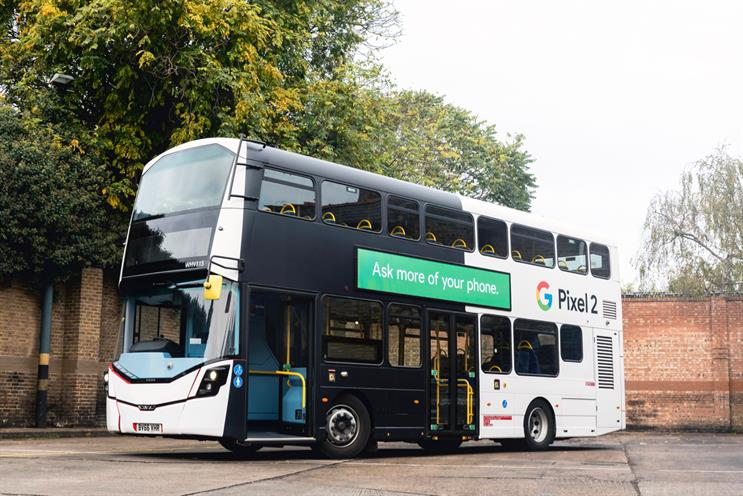 Exterion is rolling out a fleet of 20 digitally-wrapped London buses