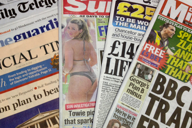 National newspaper ABC figures for May 2012