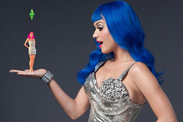 Katy Perry: stars in latest marketing activity for The Sims franchise