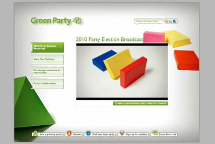 Green Party: Glue London digital election campaign