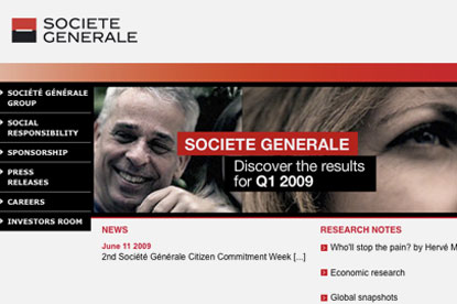Société Générale…reviewing its media account