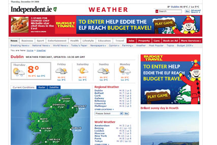 Satisfied customers: Independent Digital and Diffiniti's pre-Christmas campaign for Budget Travel achieved high click-through rates