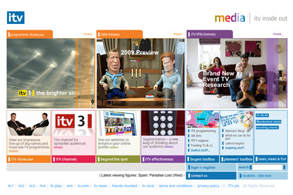 ITV... new site