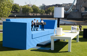 Doritos builds UK's largest living room on banks of Thames: pictures