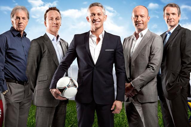 Euro 2012: Gary Lineker and fellow members of the BBC reporting team