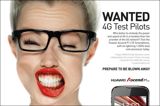 Huawei: Chinese telecoms group markets its 4G smartphones