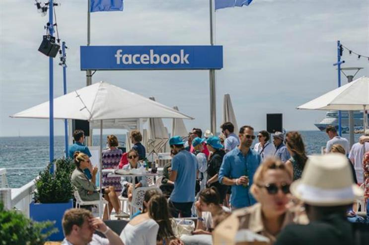Facebook: beach venue at Cannes Lions 2016