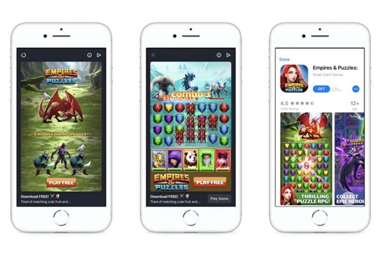 Facebook: new playable ad formats come in rewarded or interstitial form