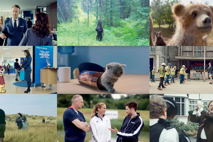 The UK's favourite ads of 2016