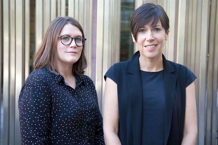Felicity Long [left] with Tracy De Groose, Dentsu Aegis Network UK CEO