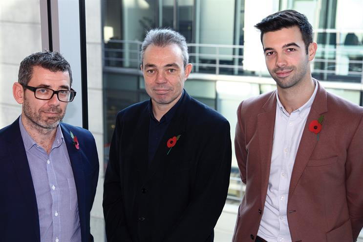 Horler, Grimmer and Connelly (l-r) struck £30m deal