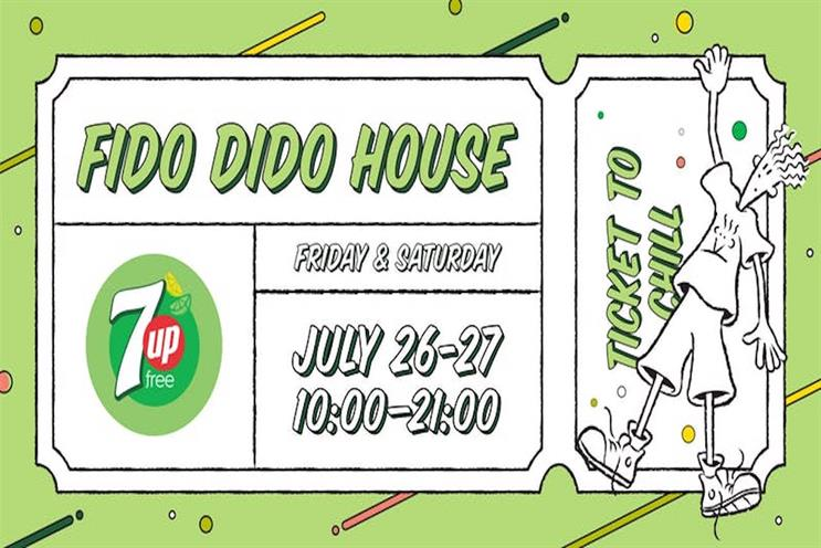 7Up: first used Fido Dido character in late 1980s