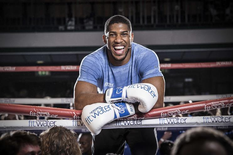 Anthony Joshua: the boxer hosted the biggest ever boxercise class with Fit Water