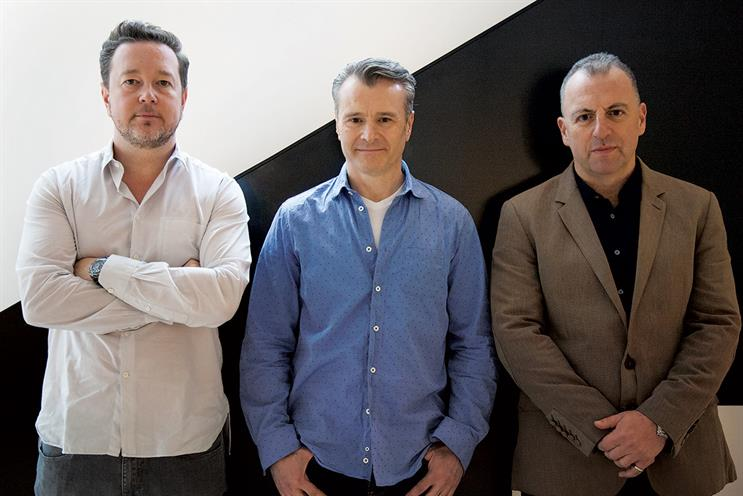 Fold7: Newey and Learman with chief executive Marc Nohr