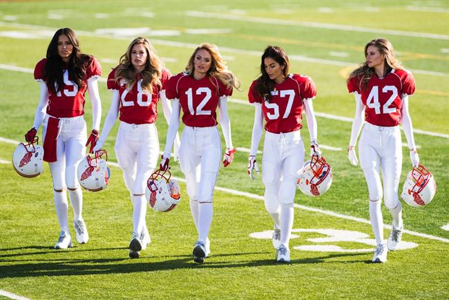 American football Valentine's Day message from Victoria's Secret
