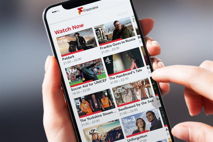A mock-up of how the Freeview Play mobile app might look